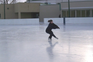 On the ice in 2008.