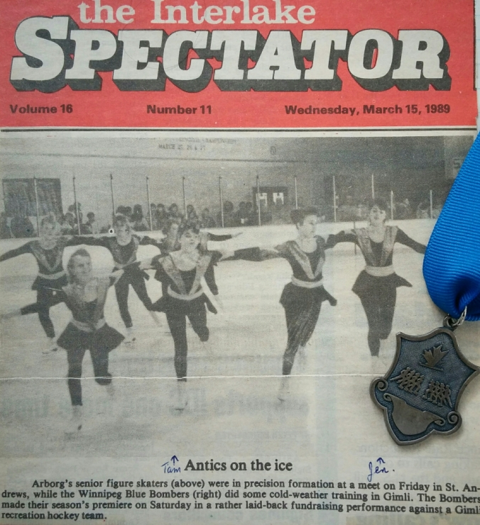 The Arborg Senior team's first medal (silver) at our first competition - the Interlake Regional Precision Competition. Competition, March, 1989