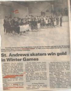 1989 Interlake Winter Games in Arborg, Man.