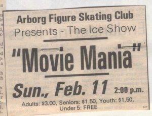 Interlake Spectator, Movie Mania Advertisement, 1990