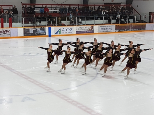 Ice Intrepid competing at the 2017 Skate Canada Manitoba Synchronized Skating Championships in January. (Photo: Susan Zuk)